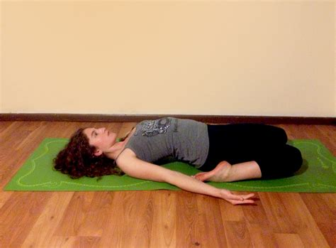 yoga reclining hero pose therapeutic yoga poses for menstruation peaceful dumpling