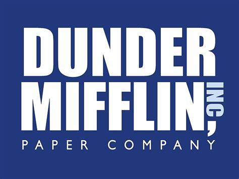 Dunder Mifflin quot dunder mifflin the office logo quot metal prints by caseyward