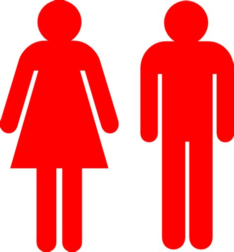 man and woman bathroom symbol boy and girl stick figure red clip art at clker com