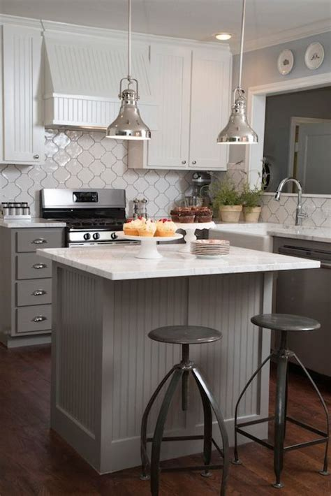 small white kitchen island beadboard kitchen island transitional kitchen hgtv