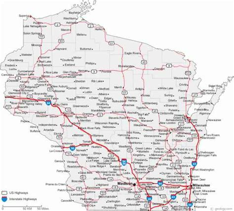 map of wi county map wisconsin map travel holidaymapq