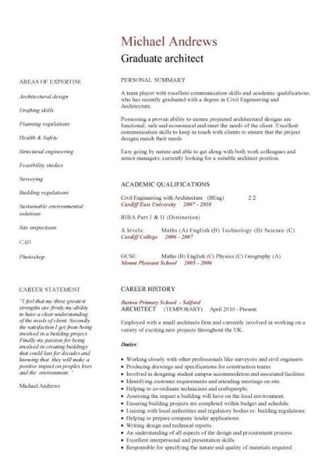 Resume Templates For Architecture Students Construction Cv Template Description Cv Writing Building Curriculum Vitae Exles
