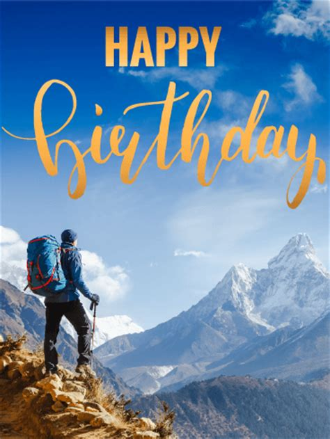 love themes for hike birthday cards for him birthday greeting cards by