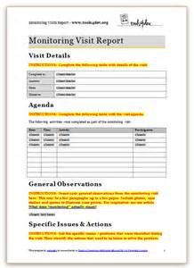 report template monitoring visit report template tools4dev