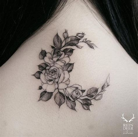 girly rose tattoo designs 25 best ideas about crescent moon tattoos on