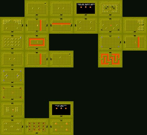 legend of zelda map of dungeons the legend of zelda dungeon maps