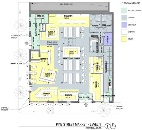 food court floor plan pine street market portland food halls pinterest
