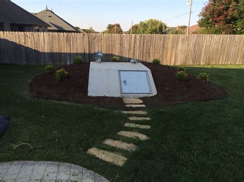backyard storm shelter 16 best images about landscape ideas for storm shelters on