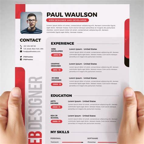 Creative Resume Cv Psd Template Cmyk Print Ready by Free Designer Resume Template Psd Psd