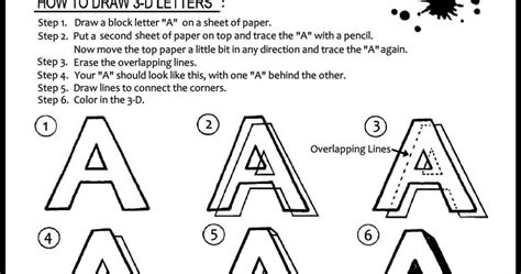 how to draw three dimensional letter a for beginners learn to draw and paint