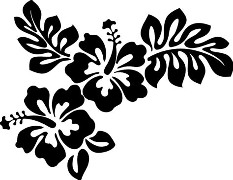 flower tattoo vector free hibiscus outline cliparts co