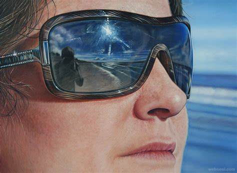acrylic painting reflections sun glass reflection acrylic painting by simon hennessey 6
