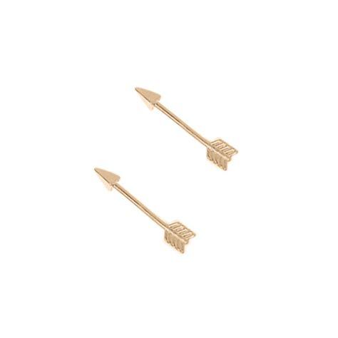 Arrow Earring gold plated arrow stud earrings by orelia