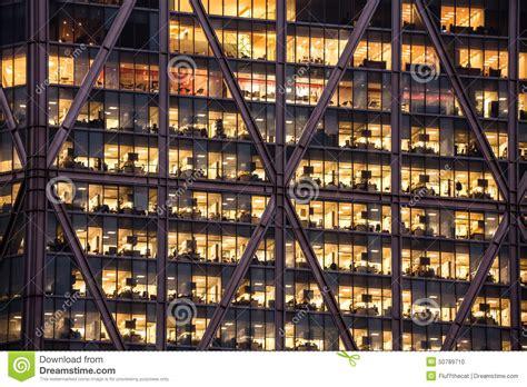 Meeting Room Interior - office skyscraper windows at night stock photo image 50789710