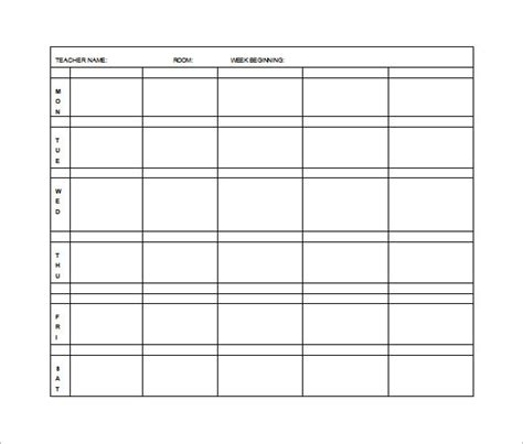 editable weekly lesson plan template elementary lesson plan template 11 free word excel