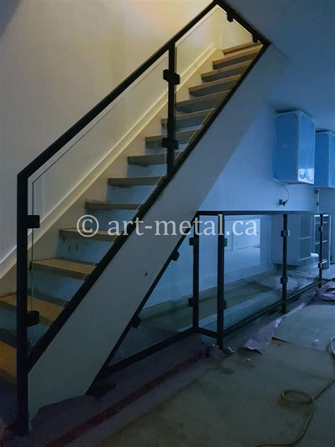 modern stair railing designs  metal wood glass