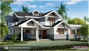 kerala sloped roof home design luxurious kerala villa with sloping roof home elevation