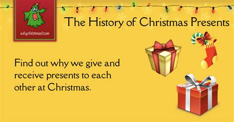 history  giving presents  christmas christmas customs  traditions whychristmascom