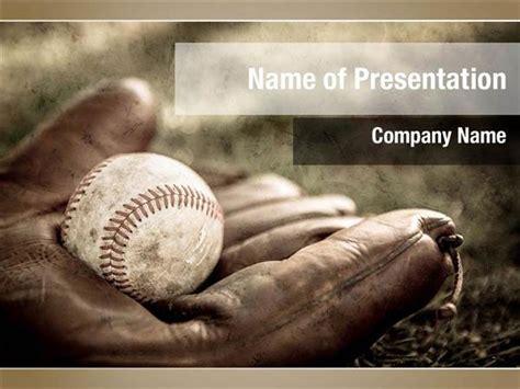 baseball themed powerpoint template baseball and glove powerpoint templates baseball and