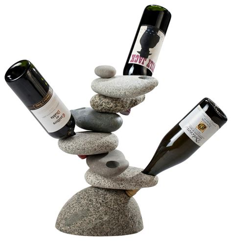 Glass Tv Stand With Mount by 6 Bottle Rock Wine Rack Beach Style Wine Racks By