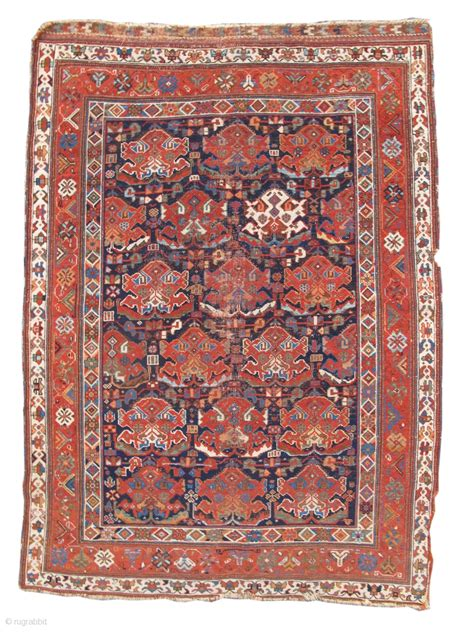 pap rugs afshar rug with a solitary white element size 3 11 quot x 5 6 quot inv 17376 published hali 99
