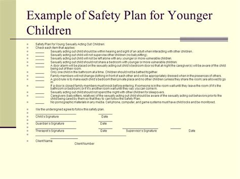 Dating Safety Plan Children S C Safety Plan Template