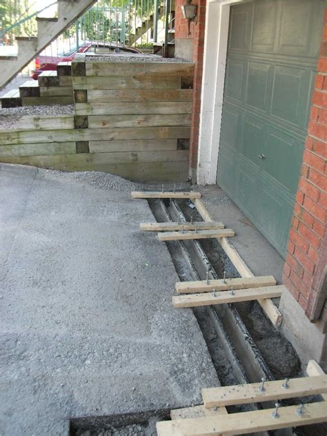 Garage Trench Drain by Finishing A Trench Drain Concrete Paving Contractor Talk