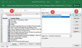 How To Refresh A Pivot Table by Pivot Table Refresh Macro Refresh Every Pivot Table In