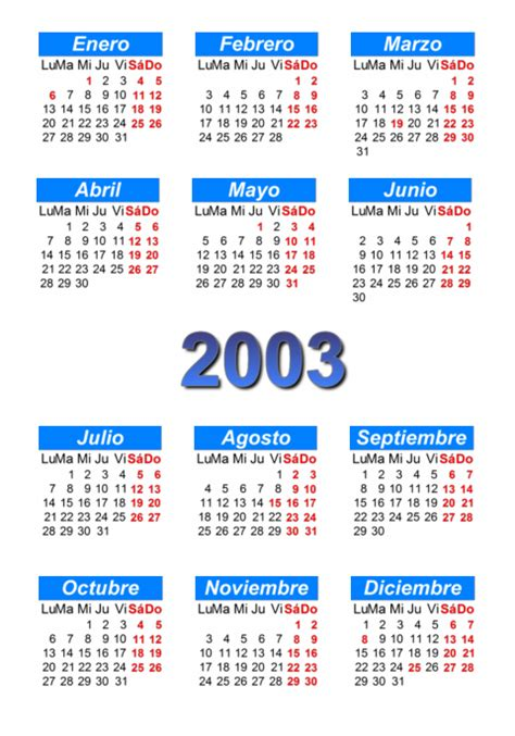 Calendario Agosto 2003 Calendario 2003 Para Imprimir Y Descargar Pdf Abc