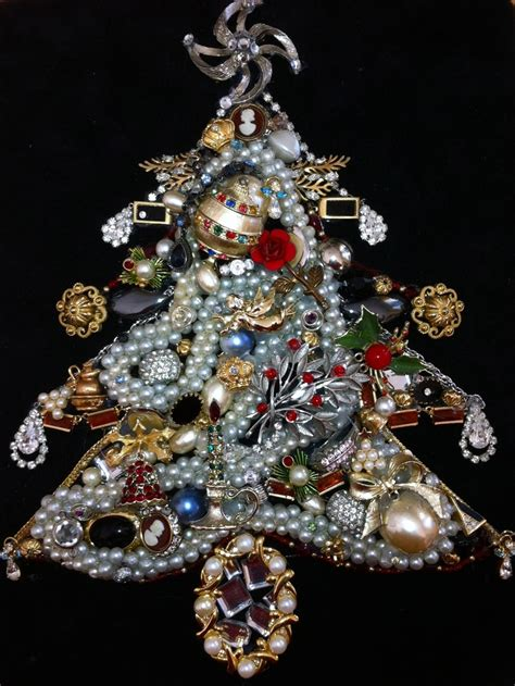 how to make a vintage jewelry tree pin by gloss jewelry on repurposed jewelry