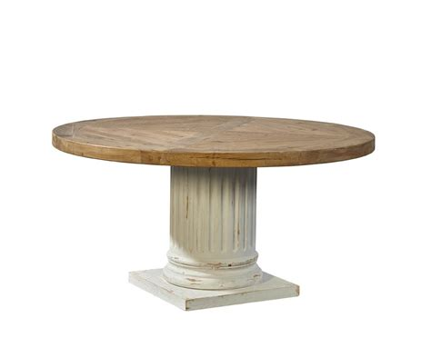 pedestal in column fluted column round pedestal table adams furniture