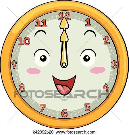clipart orologio clipart mascotte orologio 12 mezzogiorno k42092520