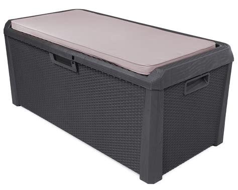 sitztruhe garten ondis24 kissenbox auflagenbox santo plus sitzkissen 560 l