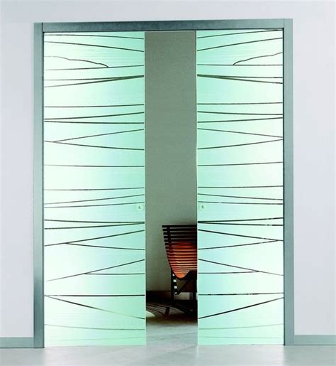 Contemporary Interior Glass Doors Etched Glass Pocket Sliding Door Contemporary Interior Doors By Modernus