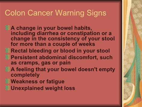 Blood In Stool Constipation by Cancer Warning Signs