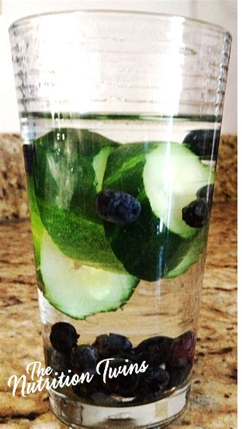 Blueberry Detox Water by Cucumber Blueberry Water Flush Nutrition