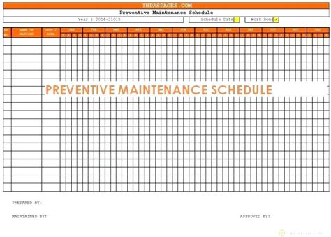 preventive plan template preventive maintenance template excel travelmums club