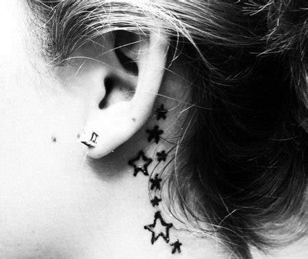 star tattoo behind right ear meaning behind the ear tattoos inkdoneright