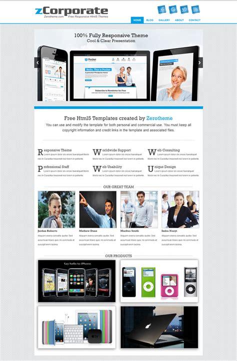 10 Free Responsive Website Templates 2013 Free Responsive Website Templates