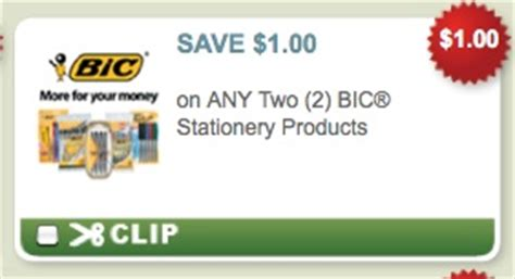 printable stationery coupons 1 2 bic stationery products coupon free pens