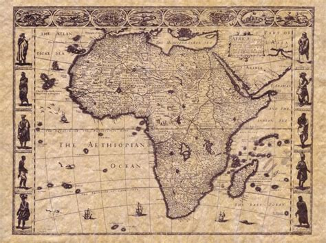 africa map vintage antique map of africa a repro from ancient map of