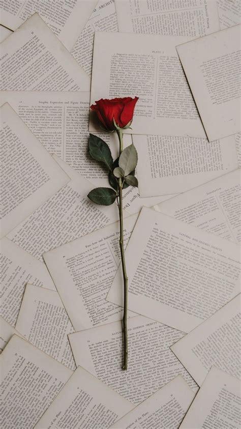 rose books lockscreen wallpaper aesthetic tumblr