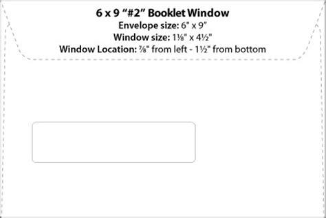 Envelope Templates Commercial Window Envelope Template Wsel 6x9 Envelope Template