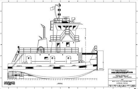tow boat design 58 6 x 24 0 x 8 0 twinscrew tow boat entech