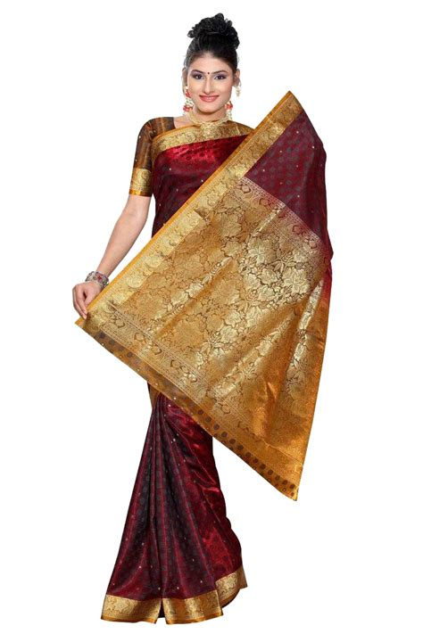 how to drape a silk saree royal burgundy south indian fancy art silk sari saree