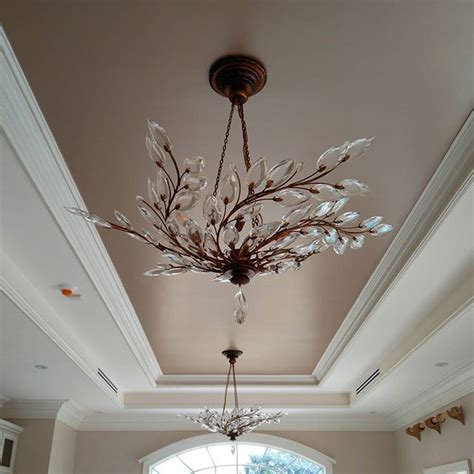chagne metallic paint by modern masters on the ceiling