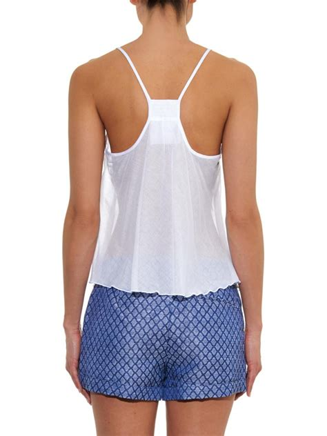 White Cotton Cami lyst loup charmant airy lightweight cotton cami top in white