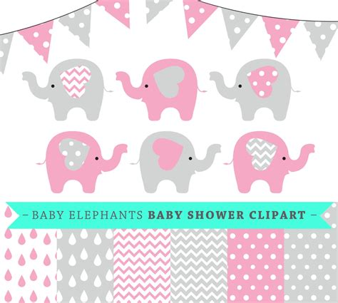 baby shower elephant clip pink clipart baby elephant pencil and in color pink