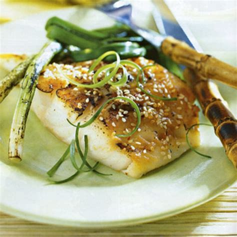 grilled sea bass with miso mustard sauce recipe