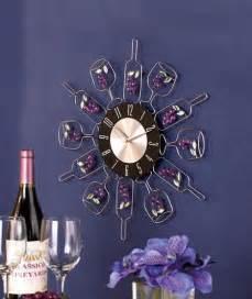 kitchen clocks wine theme wine bottle wall clock vineyard wine themed kitchen home decor